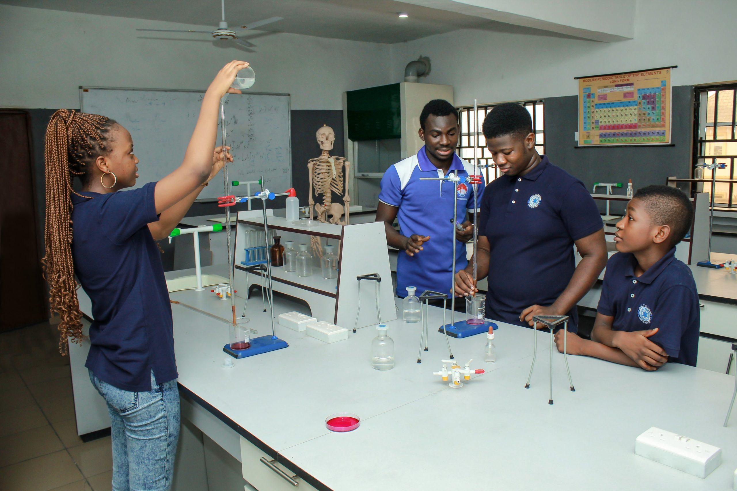 starlets academy chemistry lab